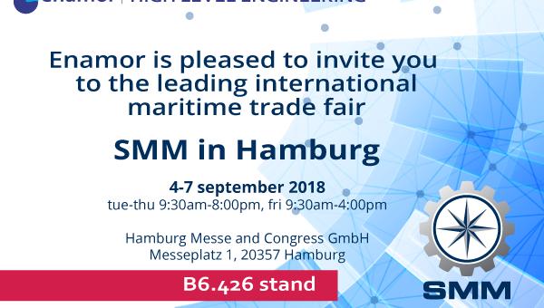 Enamor's modern maritime systems at 27th SMM Hamburg trade fair